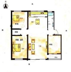 (山北)东升花苑(东升花园)3室2厅1卫101m²简单装修